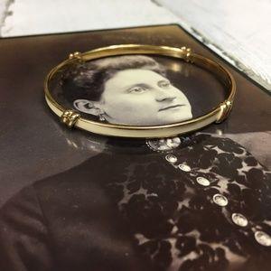 Vintage Monet Enamel & Gold Tone Bracelet